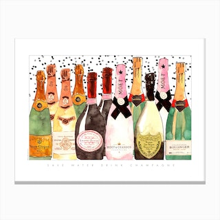 All The Champagne Canvas Print