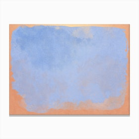 Minimal Abstract Light Blue Colorfield Painting 2 Canvas Print