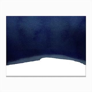 Minimal Navy Blue Abstract 02 Canvas Print