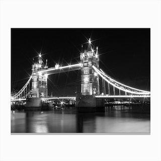 London Tower Bridge at Night Canvas Print