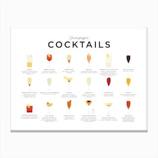 Champagne Cocktails Landscape Canvas Print