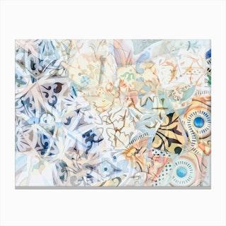 Mosaic of Barcelona XVIII Canvas Print