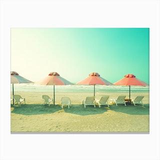 Four Umbrellas Canvas Print
