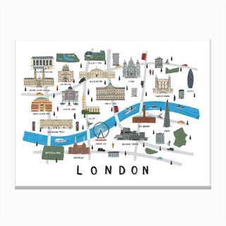 London Map Print Canvas Print
