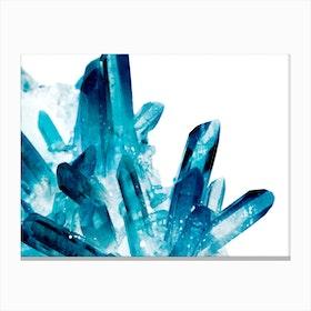 Magic Blue Crystals Canvas Print