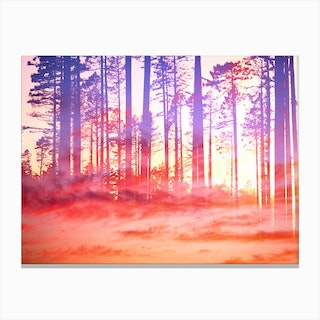Artistic CVI - Dreamy Clouds Forest Canvas Print