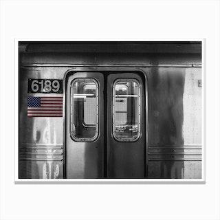 Vintage America Silver Subway Canvas Print