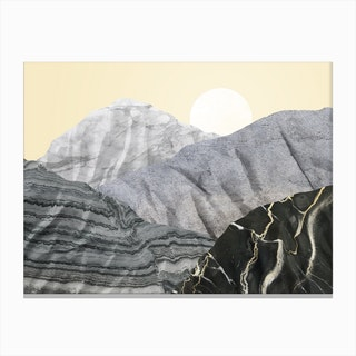 Marble Landscape III Canvas Print