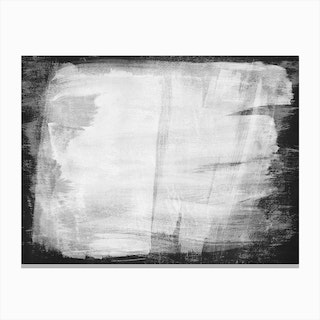 Minimal Abstract Black And White Painting 1 Canvas Print