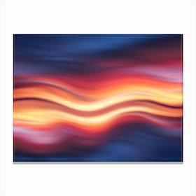 Abstract Sunset Ix Canvas Print