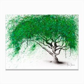 Green Breeze Tree Canvas Print