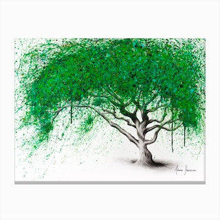Green Breeze Tree Canvas Print