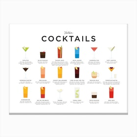 Vodka Cocktails Landscape Canvas Print