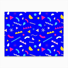 Confetti Blue Canvas Print