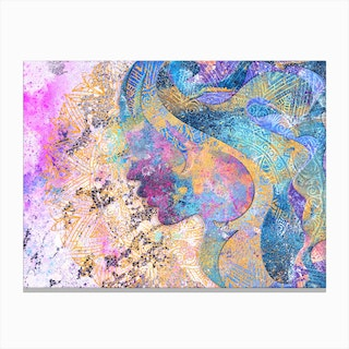 Beauty of Balance  Abstract Illustration Canvas Print