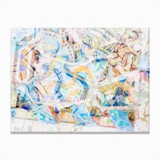 Mosaic of Barcelona XVII Canvas Print