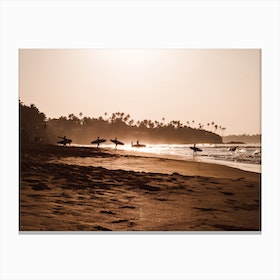 Morning Beach 2 Canvas Print