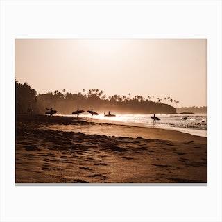 Morning Beach 2 Canvas Print