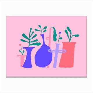Pink Plant Composition 2 Canvas Print