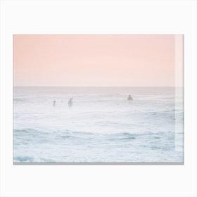 Foggy Pink Beach Canvas Print