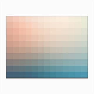 Lumen 12, Turquoise and Pink Gradient Canvas Print