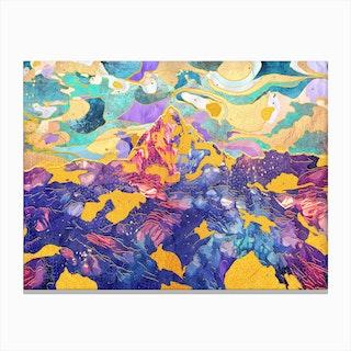Dreamy Mountain Ii Canvas Print