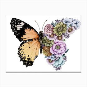 Butterfly in the Garden Canvas Print