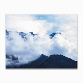 Of Clouds And Mountains_1 Canvas Print