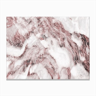 Pink and White Marble Mountain II Canvas Print
