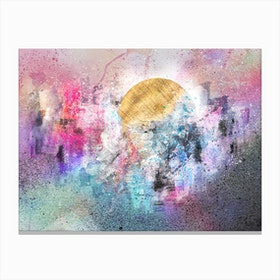 Delightful City  Abstract Painting VII Canvas Print