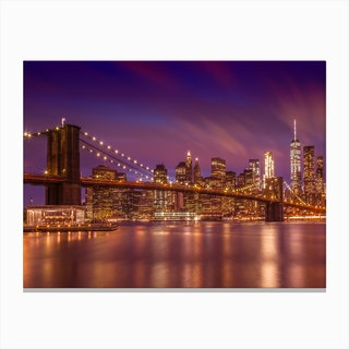 Brooklyn Bridge New York City Sunset Canvas Print