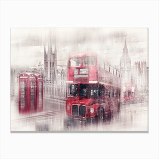 City Art London Westminster Collage Canvas Print