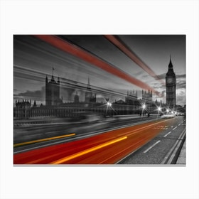Westminster Bridge Traffic Canvas Print