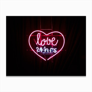 Love Neon Canvas Print