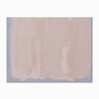 Minimal Abstract Pink Colorfield Painting 1 Canvas Print