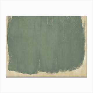 Minimal Abstract Green Colorfield Painting 1 Canvas Print