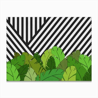 Green Direction in Canvas Print