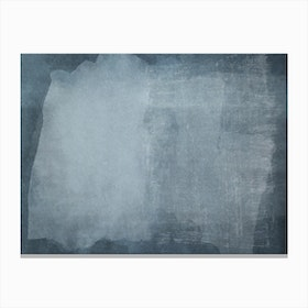Minimal Abstract Blue Painting 2 Canvas Print