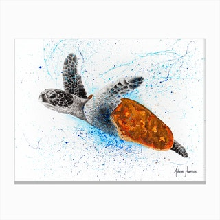 Opulent Ocean Turtle Canvas Print