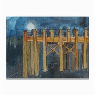 Thames Pier Canvas Print