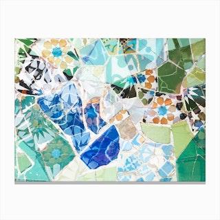 Mosaic of Barcelona VII Canvas Print