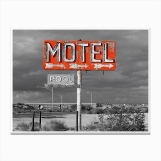 Vintage America Motel Sign Canvas Print