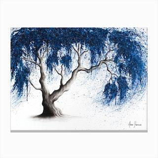 Blue Dream Tree Canvas Print