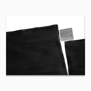 Minimal Black And White Abstract 04 Canvas Print