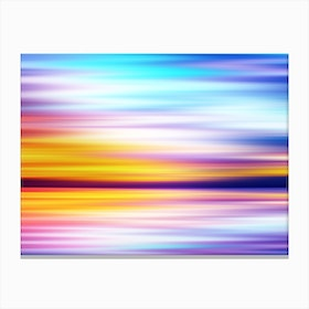 Abstract Sunset X Canvas Print