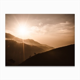 Morning Valley Canvas Print