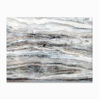 Blue and White Marble Landscape I Canvas Print