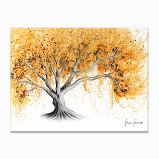 The Golden Tree Canvas Print