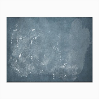 Minimal Abstract Blue Painting 4 Canvas Print