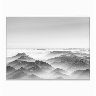 Balloon Ride Over the Alps II Canvas Print
